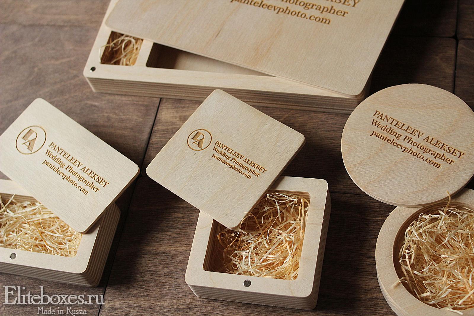Коробочка для флешки из дерева